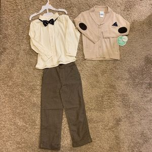 Toddler Boys 3 piece cardigan outfit